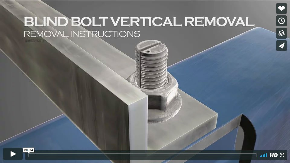Blind Bolt Vertical Removal