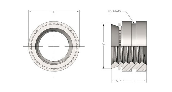 Spiralock Self-Clinching Fasteners for Stainless Steel