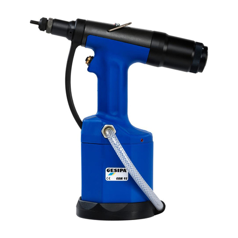 Pneumatic-Hydraulic Power Tool for Setting Rivet Nuts GBM95