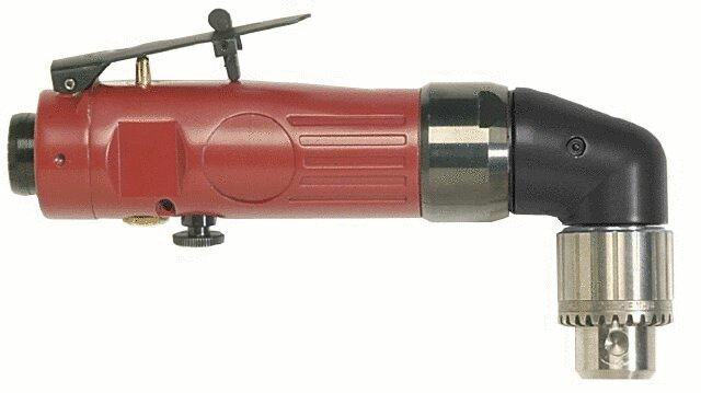 90o angle drill, 1300rpm, 10mm key chuck, reversible RP9879