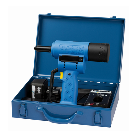 Battery Powered Riveting Tool - Li-Ion ACCUBIRD - 2 Batteries