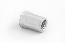 Reduced Head, Part Hexagon Open End Rivet Nuts - Stainless Steel  (Metric Across Flats)