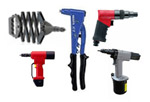 Pneumatic and Used Rivet Tools